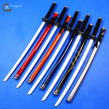5 colour black decoration sword Cosplay wooden Sword knife blade katana weapon Props shipping free