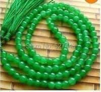 Toptan LAN032>> Tibet Budist 108 Yeşil taş Boncuk Namaz Mala Kolye