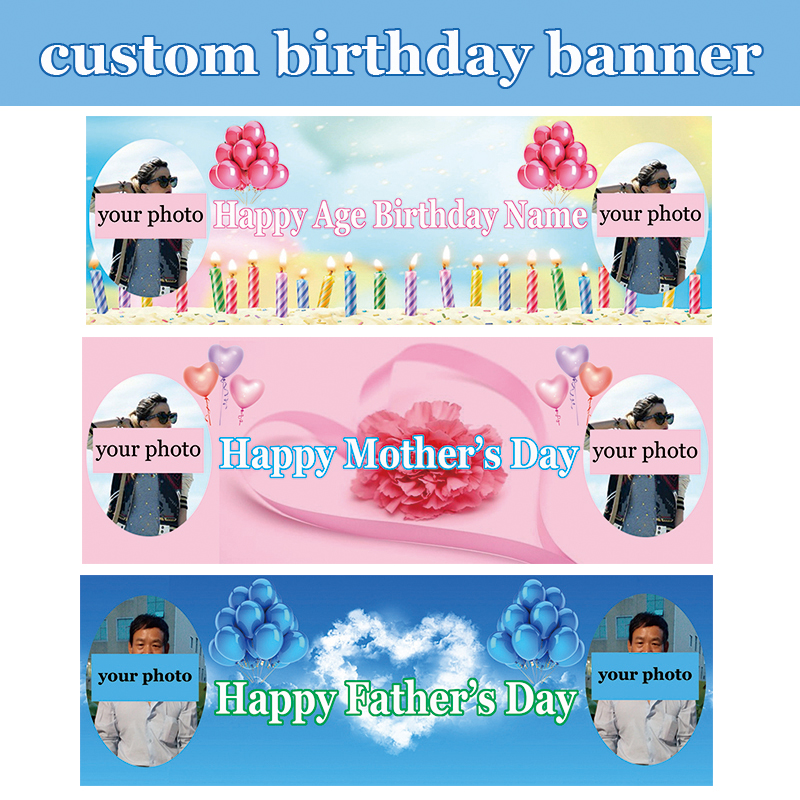 Custom Digital Printed Polyester Mother's Day / Father's