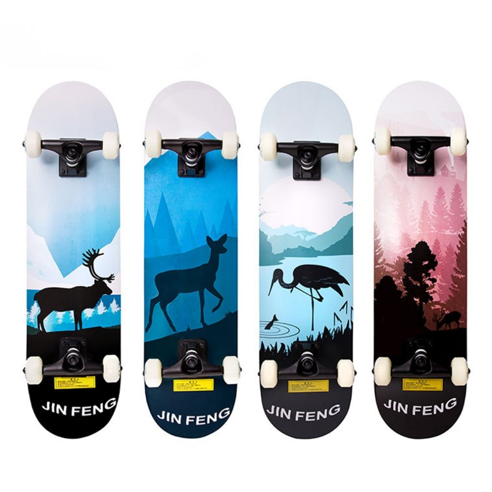Two Bare Feet Double Kick Complete Skateboard Cruiser 31 x 8 Concave Deck Outdoor Extreme Sports Long Board Hoverboard 6 5 adult electric scooter hoverboard skateboard overboard smart balance skateboard balance board giroskuter or oxboard