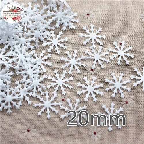 100 шт. 20 мм ткани патчи Рождественская белая Снежинка лист Аппликации для одежды Швейные принадлежности diy craft Орнамент