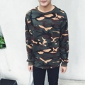Men Korean Hip Hop Camouflage Long Sleeve T Shirt Streetwear Japan Sweatshirt Clothing Army Green Large Size Pullovers XXXXL 5XL