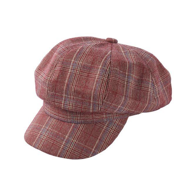 Retro Plaid Octagonal Hat...