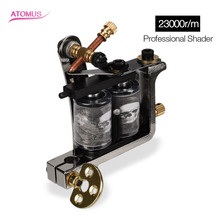 ATOMUS Professional Coils Tattoo Machine 10 Wraps Coil Tattoo Gun Machine For Liner Shader Tattoos Instrument Tattooing Device professional cast iron tattoo machine steampunk liner tattoo machine gun kits 10 wraps coils tattoo guns for tattoo steel supply