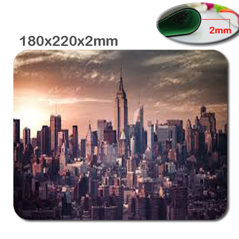 New Arrival Top Selling Custom High Quality New York Scene Antiskid Durable Notebook Computer Gaming Mouse Pad Gamer Play Mats