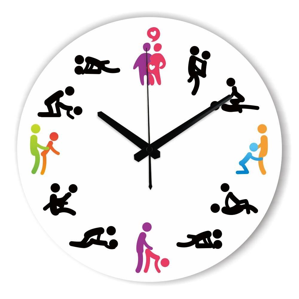 Часы с циферблатом поз секса