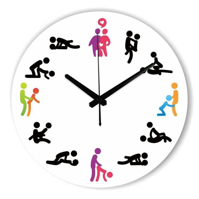 Diseño moderno Poses eróticas reloj pared mudo reloj de pared reloj ...