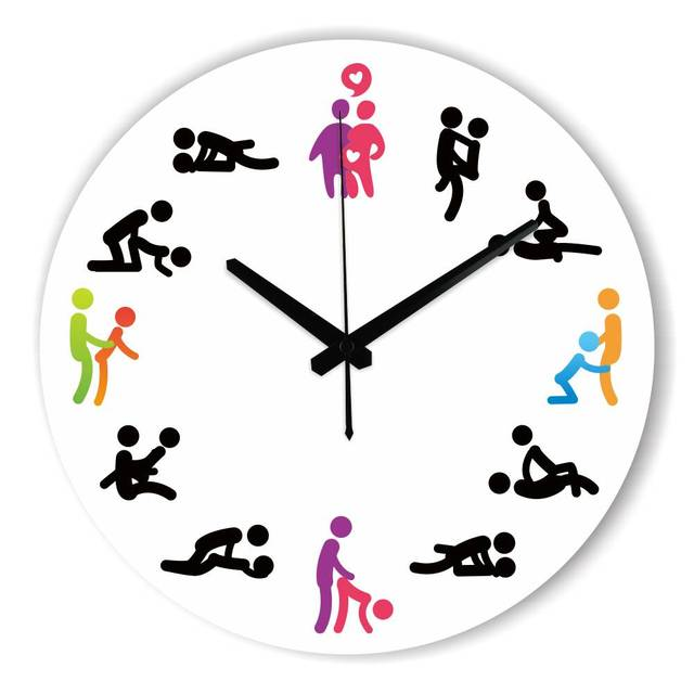 Modern Design Kama Sutra Sex Position Wall Clock For Bedroom Wall  Decoration Absolutely Silent Make Love