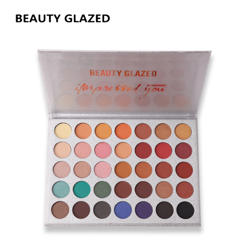 BEAUTY GLAZED Brand Makeup Eye Shadow pallete 35 color Luminous Shimmer Matte Makeup Eyeshadow Pretty glitter cosmetics