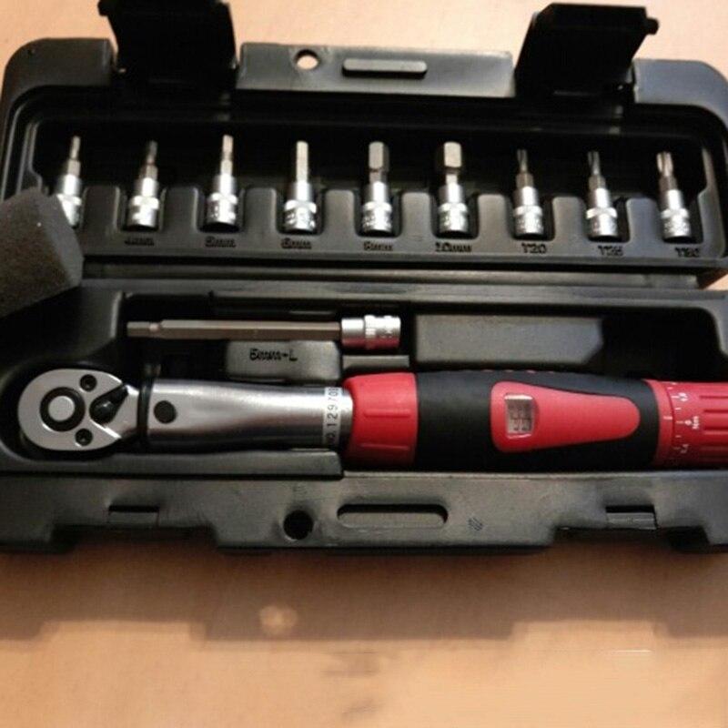 HHO-1Set 1/4 pouces Dr 2-14Nm vélo clé dynamométrique ensemble vélo réparation outils Kit cliquet clé dynamométrique mécanique couple manuel Wr - 5