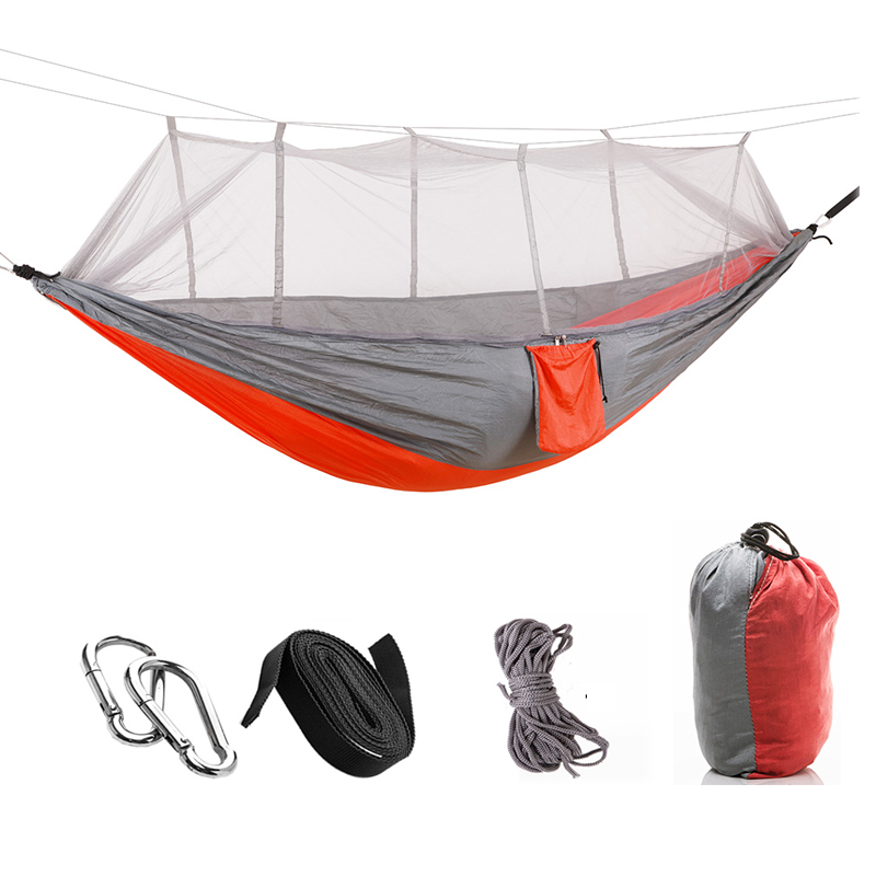 Outdoor Furniture Portable Chair Swing Hanging Bed Sheets Double Hammock Ultra Light Parachute Mosquito Net Mosquito Hammock outdoor hammock nets widened double parachute cloth ultra light mosquito net hammock camping indoor swing
