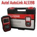 100% Первоначально AUTEL Автоссылка AL539B OBDII И Электрические Инструмент Тестирования с АВО Метр расширенный AL539 Автомобилей Scan Tool DHL Бесплатно доставка
