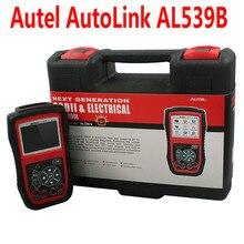 100% первоначально AUTEL автоссылка AL539B OBDII и инструмент тестирования с аво метр расширенный AL539 автоинструмент сканирования DHL бесплатная доставка