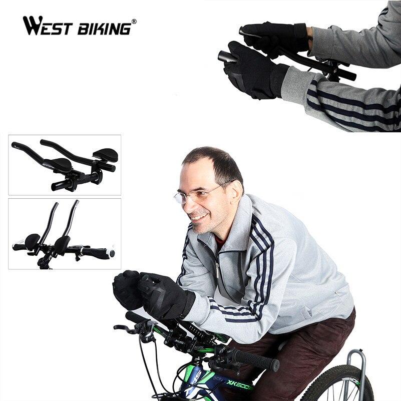 купить WEST BIKING Cycling T Handlebar Road Mountain Bike Bicycle Race MTB Aluminum Alloy Extended Part Triathlon Rest Handlebar 2PCS онлайн