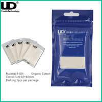 Original Youde UD 100% algodón orgánico japonés cigarrillo electrónico accesorios para RDA RBA atomizador VAPE 5 unids/pack