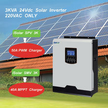 EASUN POWER 2400W Solar Inverter 220V 50A PWM 40A MPPT 3Kva Pure Sine Wave Inverter 50Hz Off Grid Inverter 24V Battery Charger