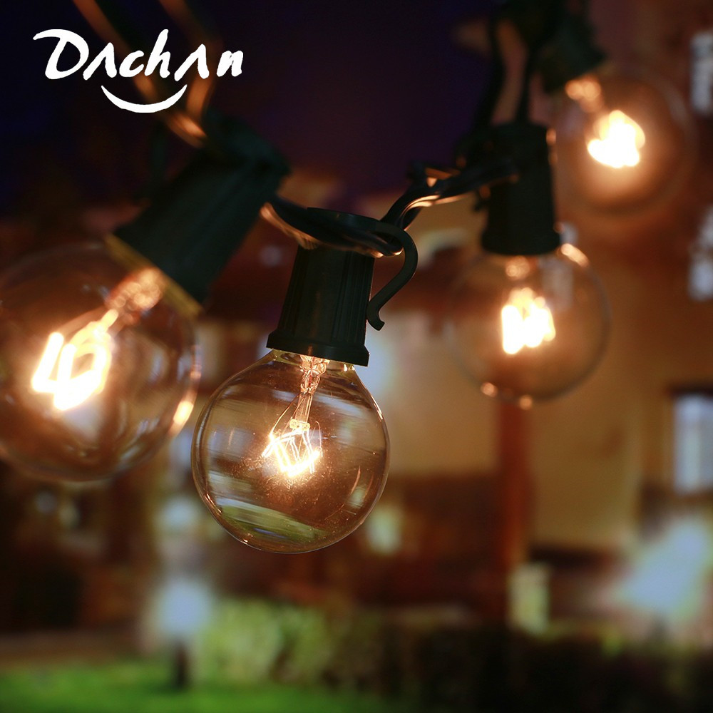 8M G40 Globe Bulb String Lights With 25 Clear Ball Vintage Bulbs Outdoor For Wedding Light Party Patio String Lighting UK/AU/US