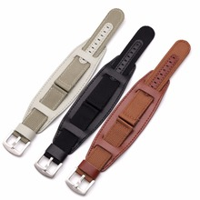BUMVOR Nylon Watch Band Watchband Leather Strap 18mm 20mm 22mm 24mm Accessories Stainless Steel Men Woman High Quality
