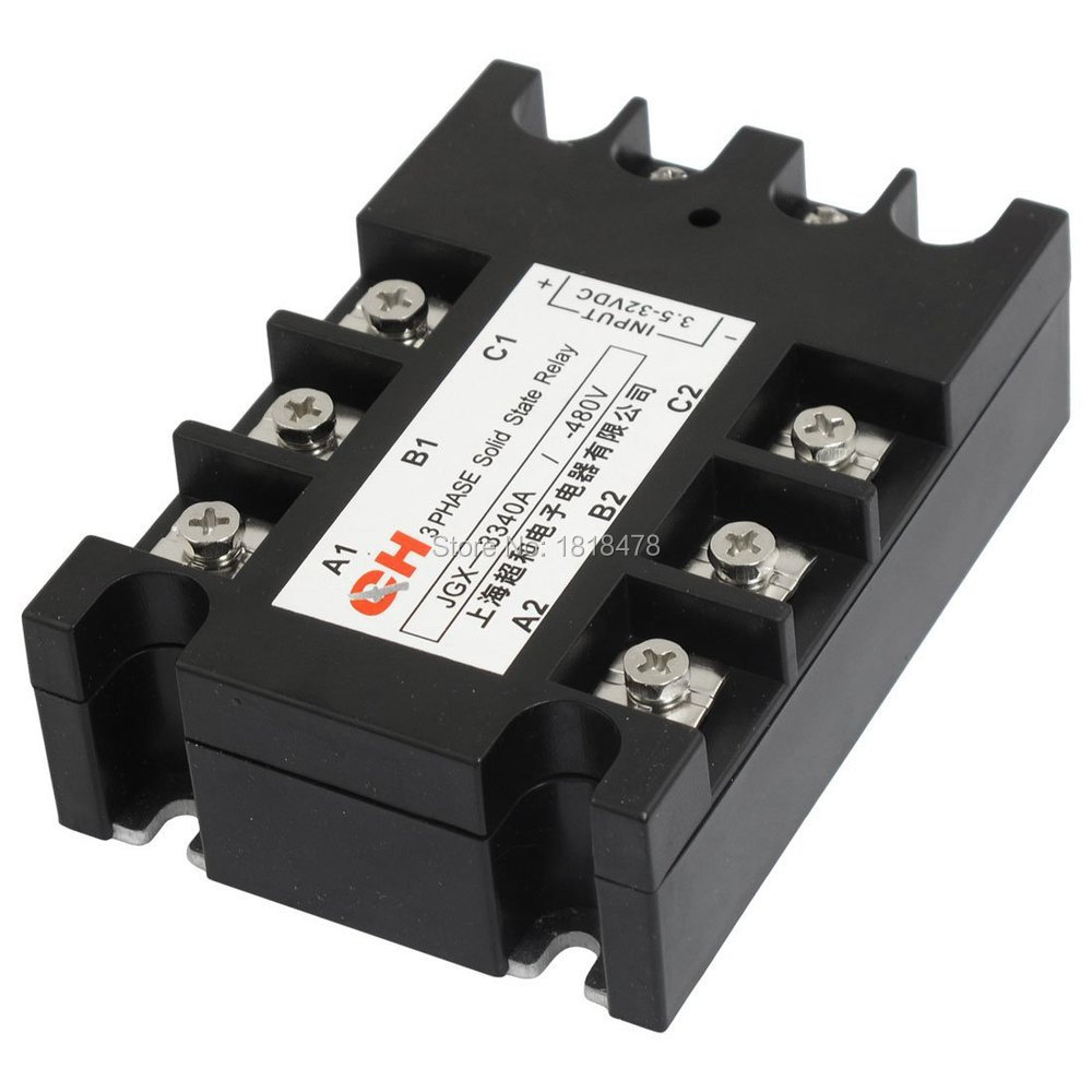 Jgx 3340 Dc To Ac 3 Phase Solid State Relay 35 32vdc 9 30ma 480vac 220v 40a In Relays From Home Improvement On Alibaba Group