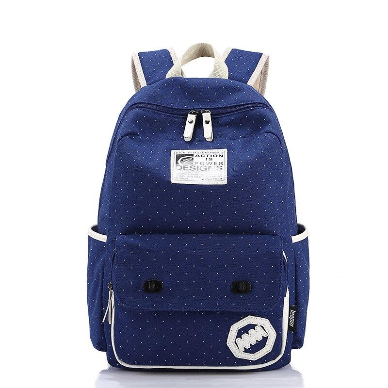 Sunborls Canvas Backpack Women School Bags for Teenage Girls Cute Bookbags  Travel Wave Laptop Stylish Backpacks Female Mochila-in Backpacks from  Luggage ... a233a0df75