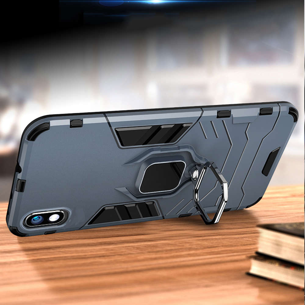 Image 2 - For Samsung Galaxy A10 Case Armor PC Cover Finger Ring Holder Phone Case for Samsung A 10 Cover Shockproof TPU Rim Bumper Shell-in Fitted Cases from Cellphones & Telecommunications