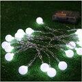 2 Peças Novidade lâmpadas de iluminação Ao Ar Livre 10 LED branco de cordas Fios Brancos Luzes De Natal de fadas jardim de casamento pingente guirlanda