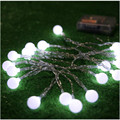 2 Pieces Novelty Outdoor lighting 10 LED white string lamps White Wires Christmas Lights fairy wedding garden pendant garland