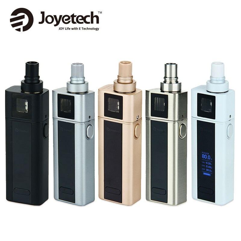 Prix de dédouanement! Original 80 W Joyetech cuboïde Mini Kit 2400 mAh Mod batterie avec 5 ml capacité atomiseur réservoir E Cig Vape Kit