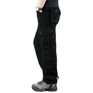 Image 2 - 2020 primavera Mens Cargo Pantaloni Kaki Militare Degli Uomini di Pantaloni Casual Cotone Pantaloni Tattici Degli Uomini di Grande Formato Army Pantalon Militaire Homme