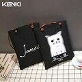 KEENICI Sakura Momok And Cat Printed Canvas Tote Female Casual Beach Bags Large Capacity Women Shopping Bag Daily Use Handbags
