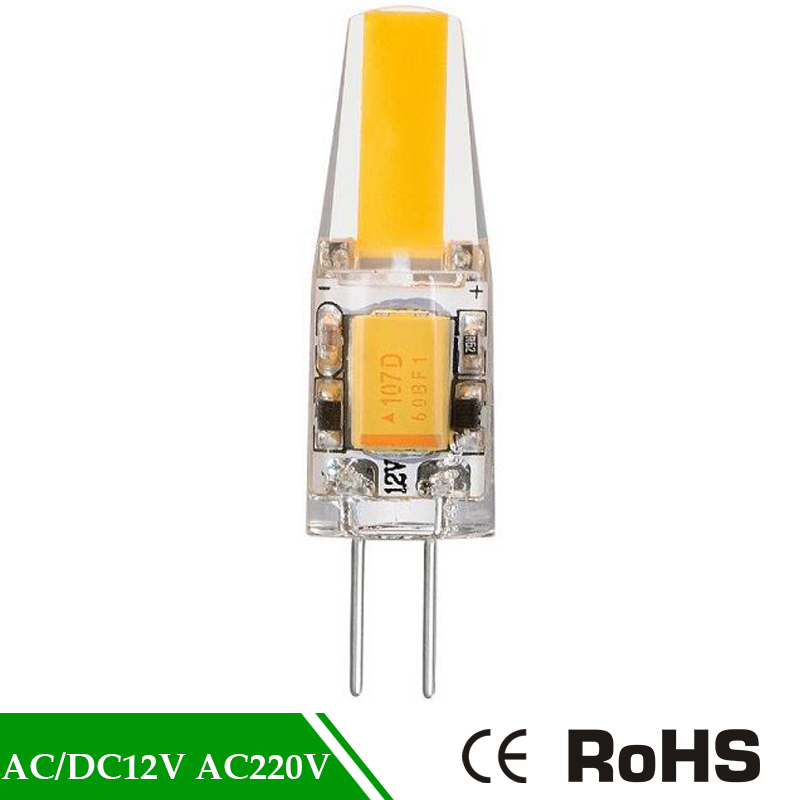 Replace Halogen g4 cob led Mini G4 LED Lamp COB LED Bulb 3W DC/AC 12V AC 220V LED G4 COB Light 360 Beam Angle Chandelier Lights ynl g4 led lamp ac dc 12v mini lampada led bulb g4 1505 cob chip light 360 beam angle lights replace 30w halogen g4 spotlight