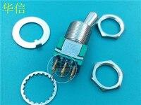 Original neue 100% MTG206N MTG 206N 3A250VAC 6pin 2 getriebe kippschalter gold pin gewinde durchmesser 12 MM