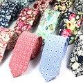 2016 Nueva Moda Corbata para Los Hombres 100% Algodón Lazo Floral Impresión Clásica Corbata Para Hombre corbatas Gravatas Casual de Negocios de La Vendimia
