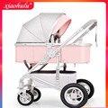 Брендовая детская коляска прогулочная тележка для новорожденных складные детские коляски легкий складной шок bb зонтик для детской коляски
