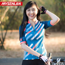 MYSENLAN Summer Cycling suit Womens Suit Bike Autumn Long Sleeve Road Mountain Sun Breathable