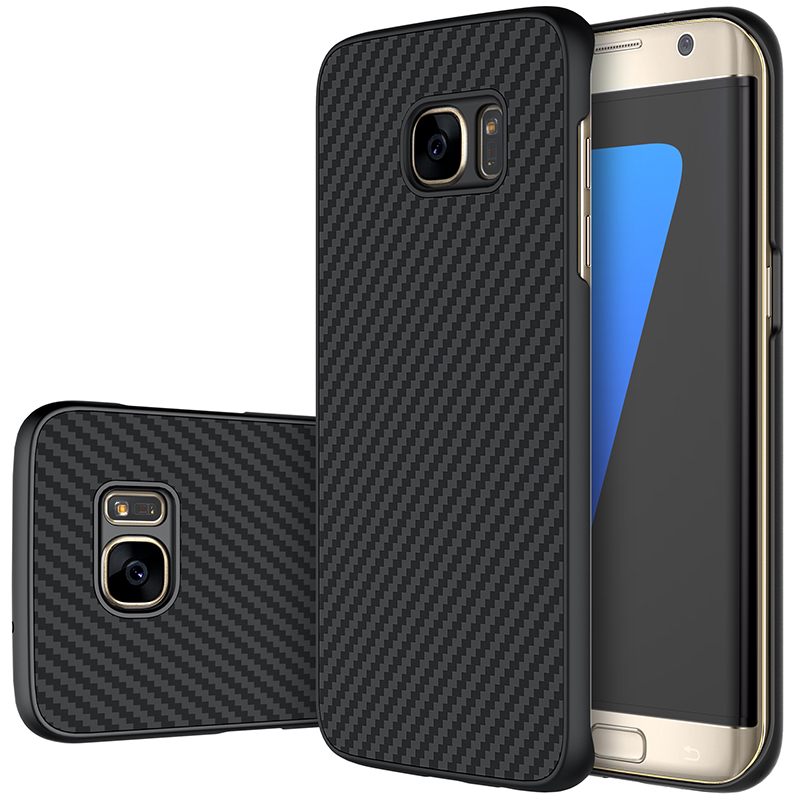size 40 034ec d50df US $10.99 |Nillkin synthetic fiber Cell phone case for samsung galaxy s7  edge 5.5'' Hard Carbon Fiber PP Plastic Back Cover Case-in Fitted Cases  from ...