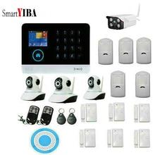 SmartYIBA WIFI GSM Wireless RFID Home Security Camera Alarm System Outdoor Indoor IP Camera Wireless Strobe Siren APP Control