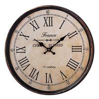 High Quality Wooden 40cm Wooden Wall Clock Large Art Round Roman Numerals Home Garden Outdoor Decor Retro Clock