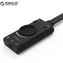 ORICO SC1 External USB Sound Card Stereo USB Sound Card Mic Speaker Audio Jack 3 5mm