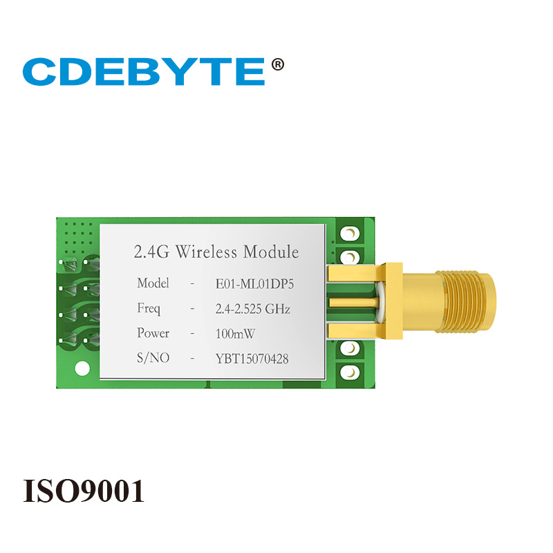 E01-ML01DP5 Long Range SPI NRF24L01P 2.4Ghz 100mW SMA Antenna IoT Wireless Transceiver Transmitter Receiver NRF24L01P RF Module