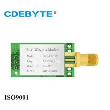 E01 ML01DP5 ארוך טווח SPI nRF24L01P 2.4 ghz 100 mw SMA אנטנה IoT אלחוטי משדר משדר מקלט nRF24L01P RF מודול