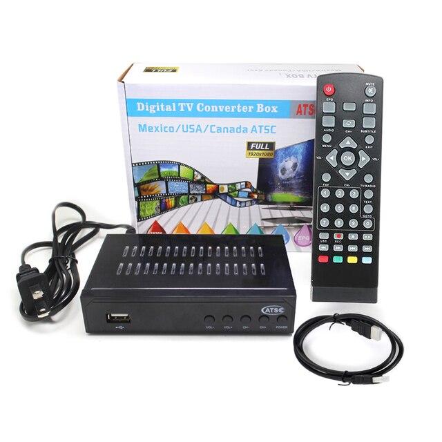 USA/Mexico/Canada/South Korea TERRESTRIAL ATSC TV BOX 1080P HDMI Digital/Analog CONVERTOR RECEIVER HDTV Without VHF UHF ANTENNA