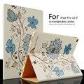 Для Apple ipad Pro Кожаный Чехол 12.9 дюймов Роскошный Цветной рисунок стенд Смарт Обложка capa para для iPad Pro Tablet PC + Pen + Film