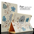For Apple ipad Pro Leather Case 12.9 inch Luxury Colored drawing Stand Smart Cover capa para for iPad Pro Tablet PC +Pen+Film