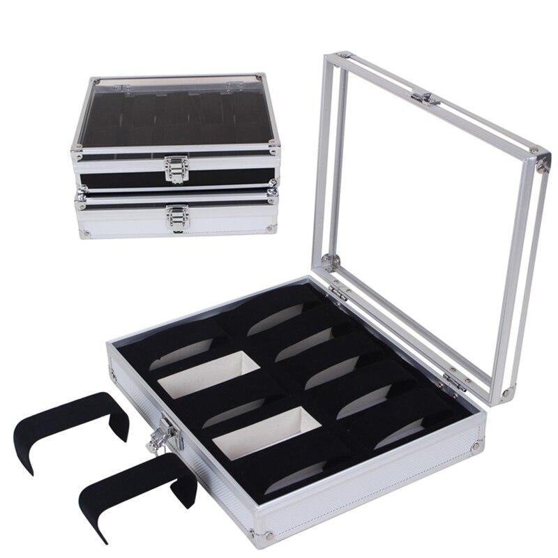 10 Grid Watch Box Case Insert Slots Jewelry Watches Display Storage Box Case Aluminium Jewelry Decoration Skmei Caja Reloj