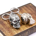 High Quality Movie The Terminator Metal 3D Skull Keychain Toy Chaveiro Key Ring Porta Porte Clef Anillas Llavero Toy