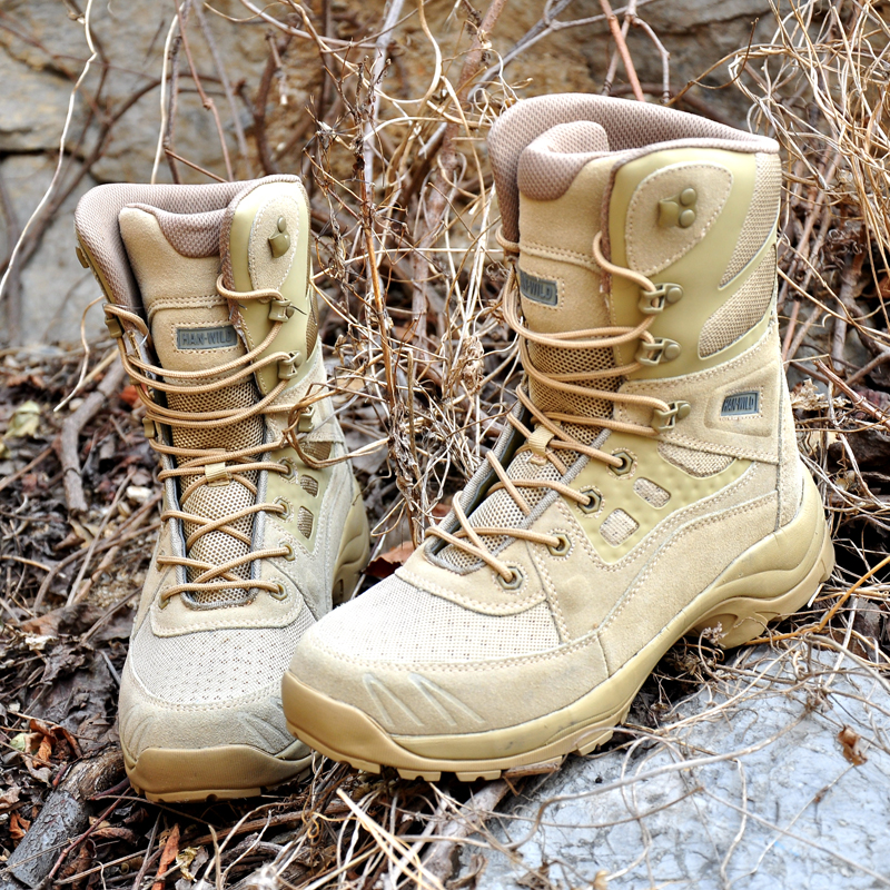 Ultralight Breathable Men Tactical Combat Boots Spring Autumn Outdoor Training Hiking Hunting Desert Jungle Walking Ankle Shoes spring summer outdoor boots male combat boots desert boots tactical thigh high boots hiking climbing shoes