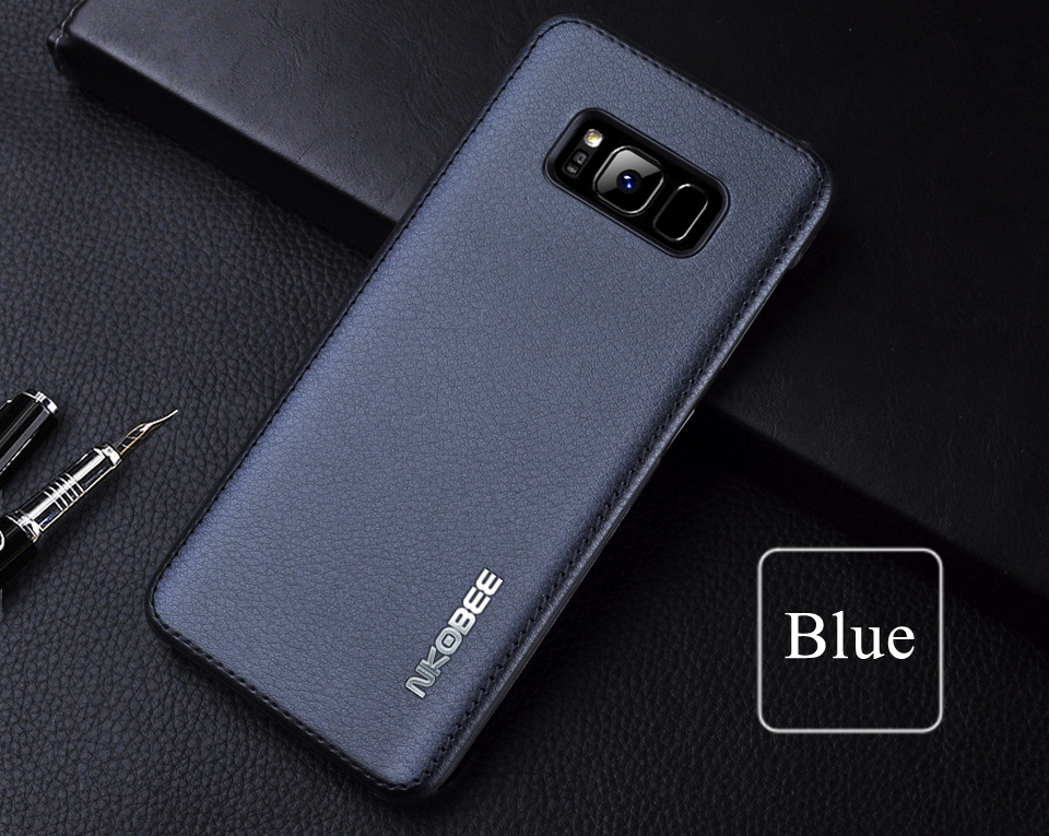 For Samsung Galaxy S8 Case Leather Luxury Cover Case For Samsung Galaxy S8 S8 Plus Case S8 S8 Plus Original Hard Back NKOBEE (11)