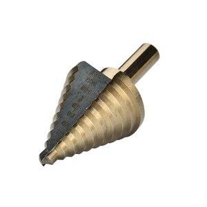 Image 5 - 5pcs צעד מקדח סט Hss קובלט מרובה חור 50 גדלים קובלט טיטניום חרוטי קרביד תרגיל מחוררי חור קאטר כלי