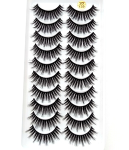 Image 4 - Nieuwe 300 Pairs 3D Zachte Nertsen Haar Valse Wimpers Natuurlijke Lange Wimpers Criss Cross Piekerige Pluizige Wimpers Extension Eye makeup Tools